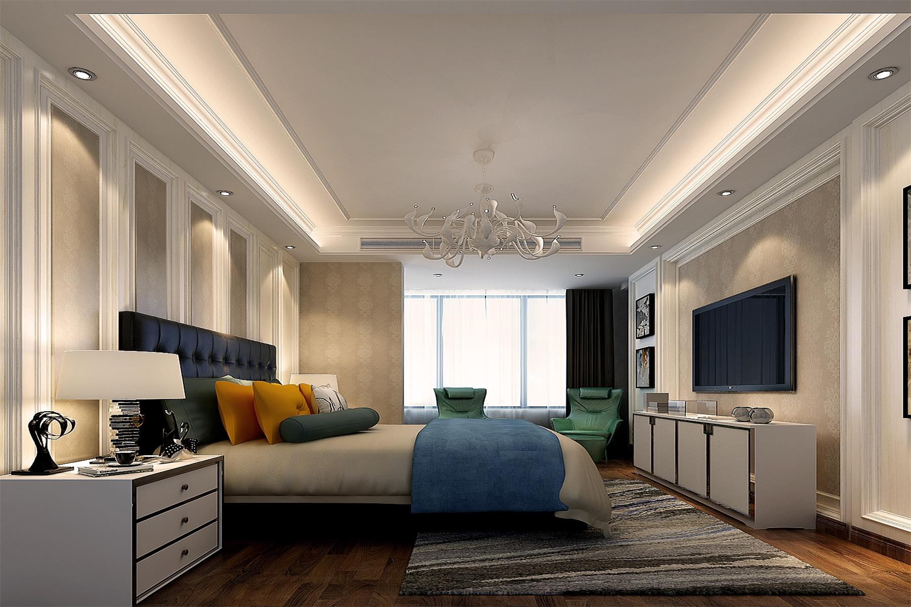 欧式 房屋类型:平层 设计师:何国鸿 主材配置:大理石瓷砖,墙板,无纺