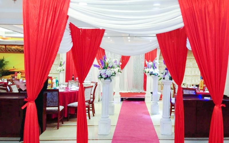 婚庆红色柱子素材