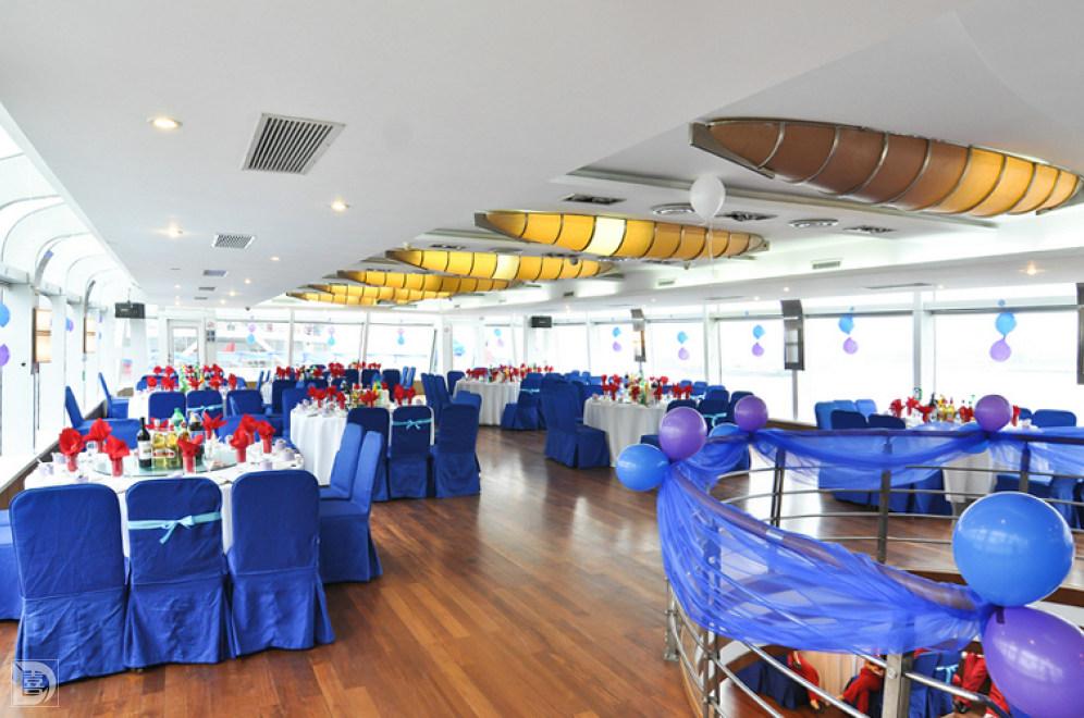 婚庆 上海婚宴酒店 全球通号游轮  宴会厅 2f 桌数: 12桌 面积: 0