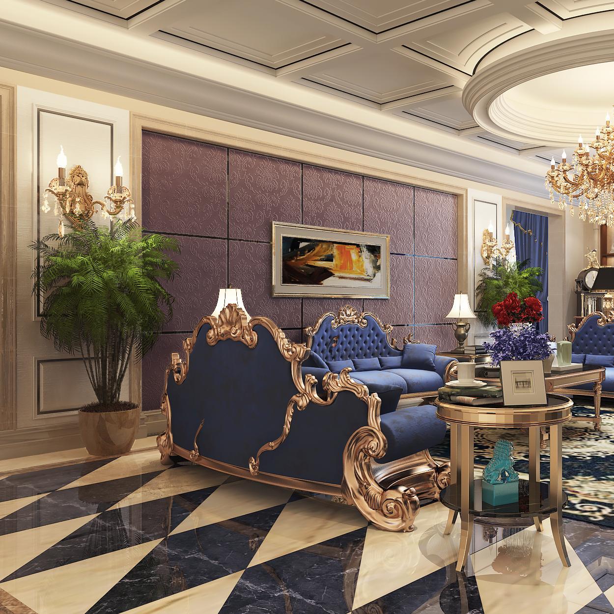 装修效果图 新古典风格140平米以上装修豪华型装修大户型 0 现代欧式
