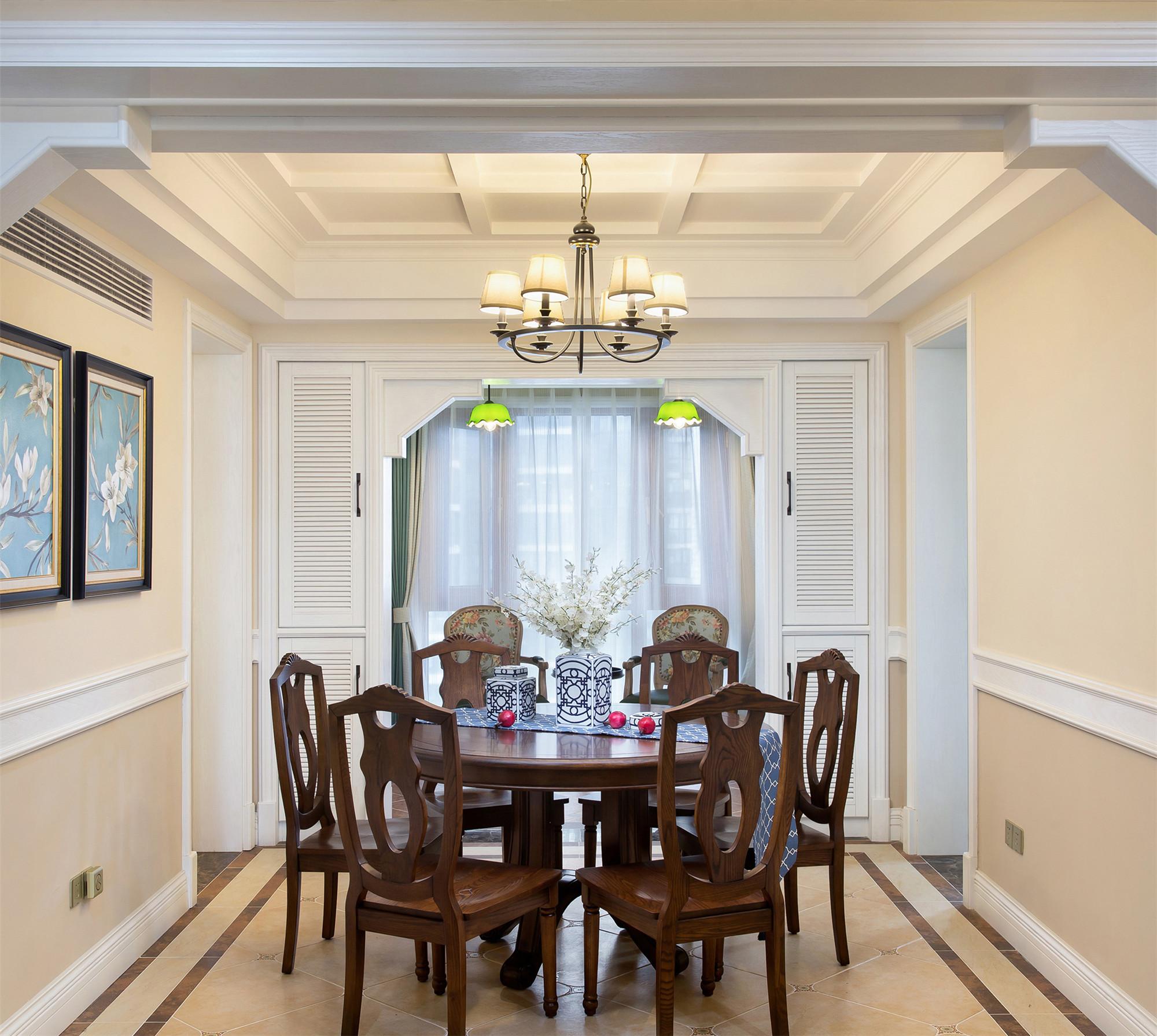 四居室美式风格装修餐厅设计图图片