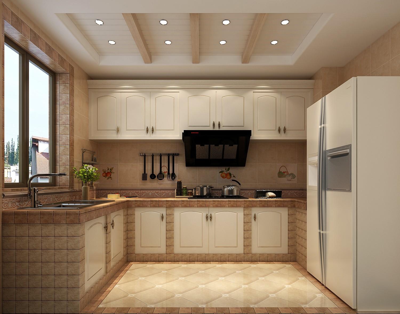 大户型田园风格家厨房设计图