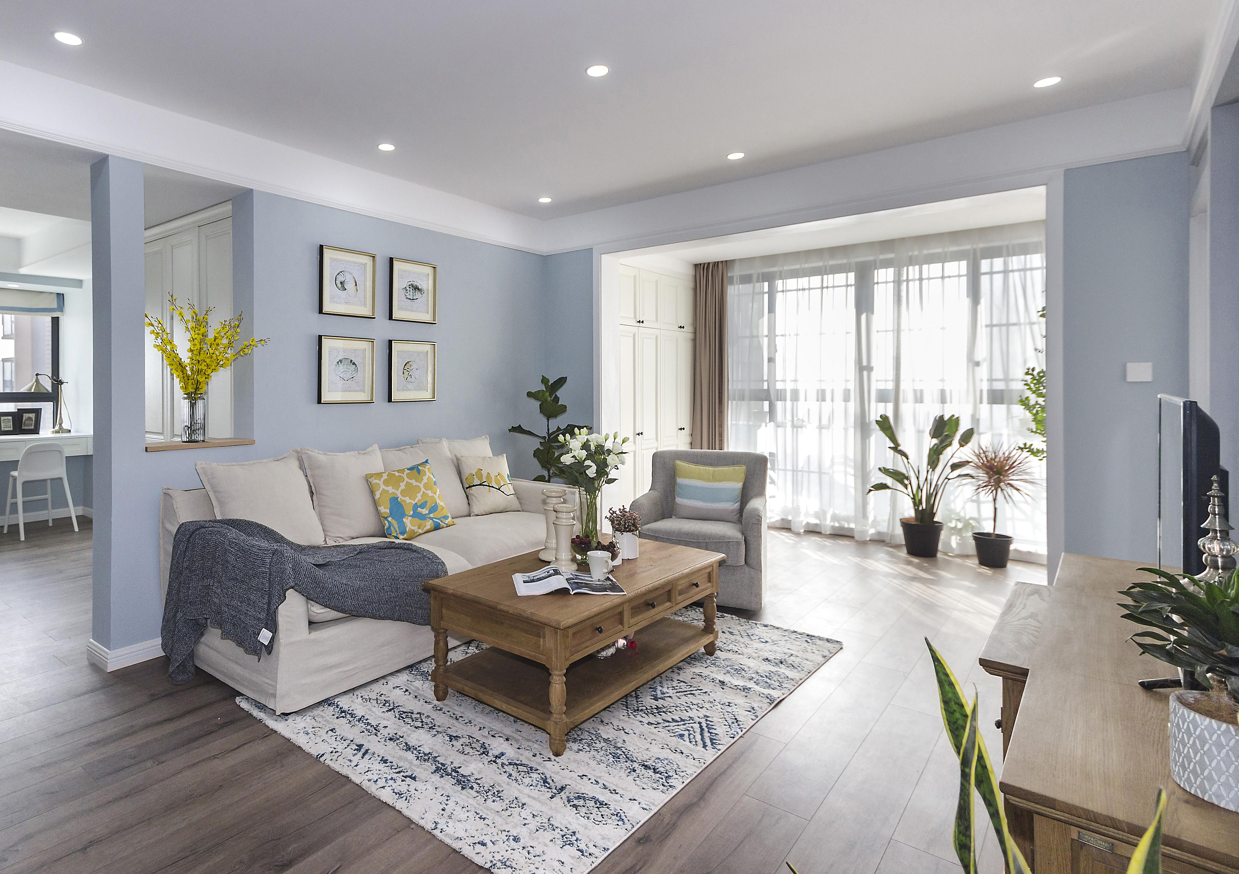 欧式风格艺术沙发背景墙装修图片_齐家网装修效果图图片