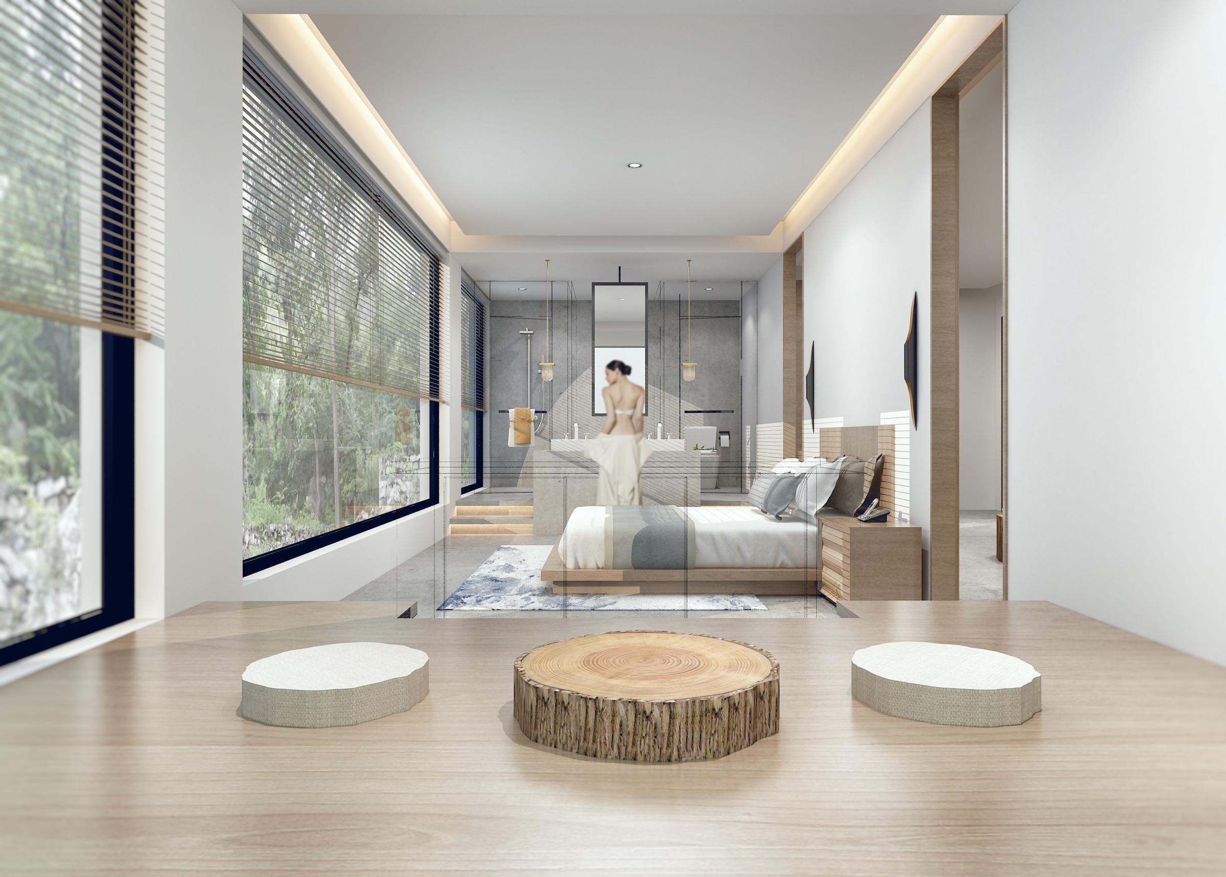 奢华金棕色复古欧式室内休闲区背景墙效果图