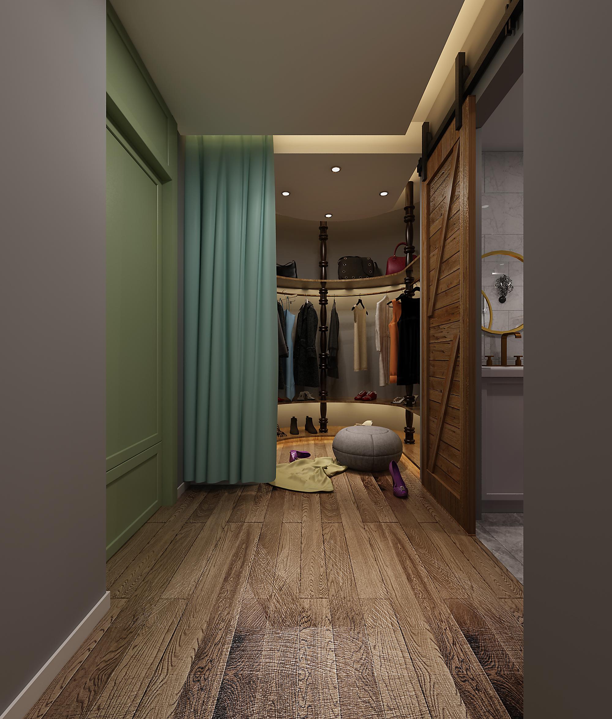 欧式简约风格简洁卧室小衣帽间设计_齐家网装修效果图