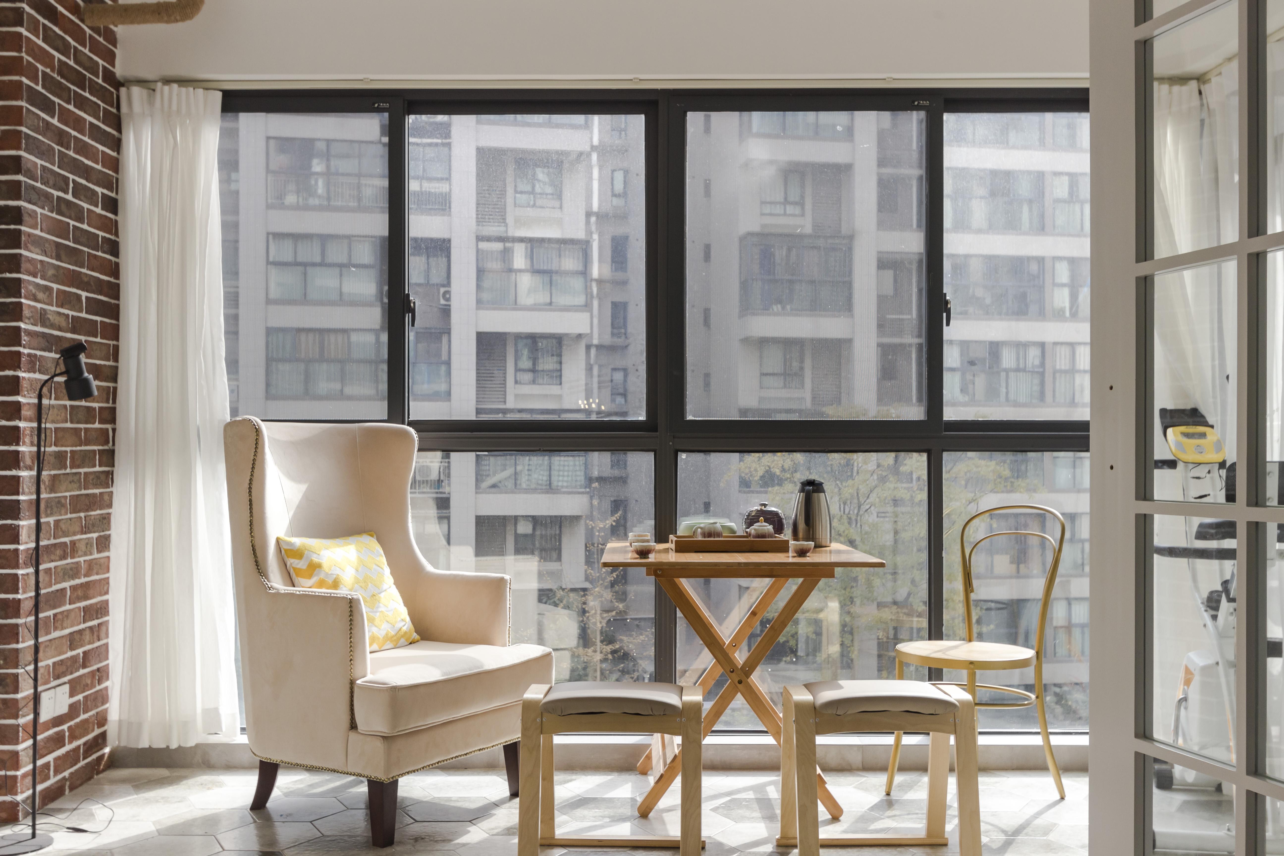 混搭风格公寓实用阳台设计_齐家网装修效果图