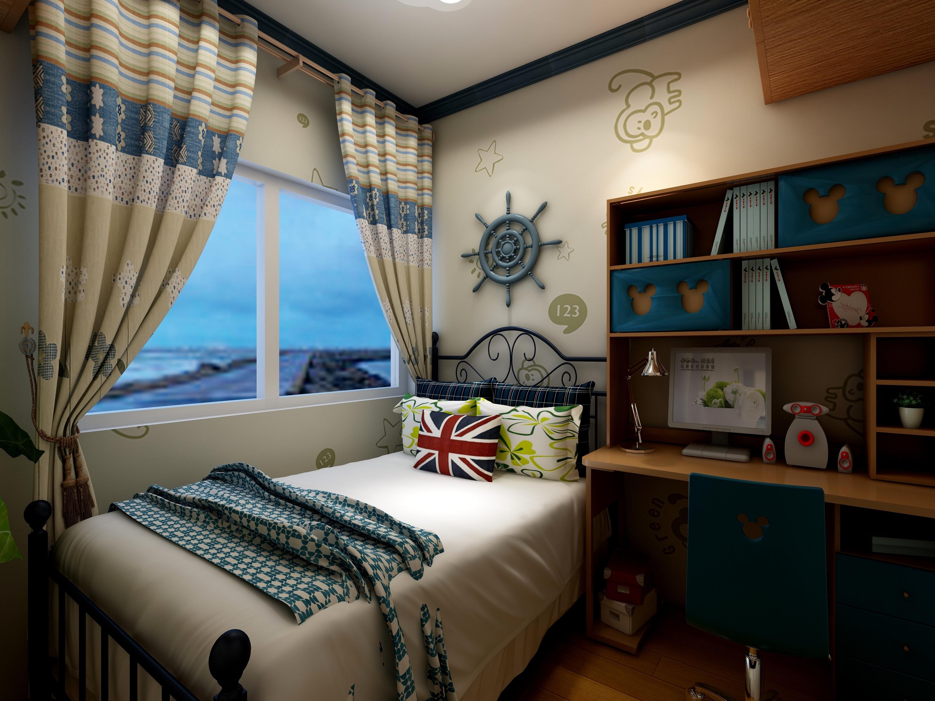 地中海风格可爱儿童房装修效果图
