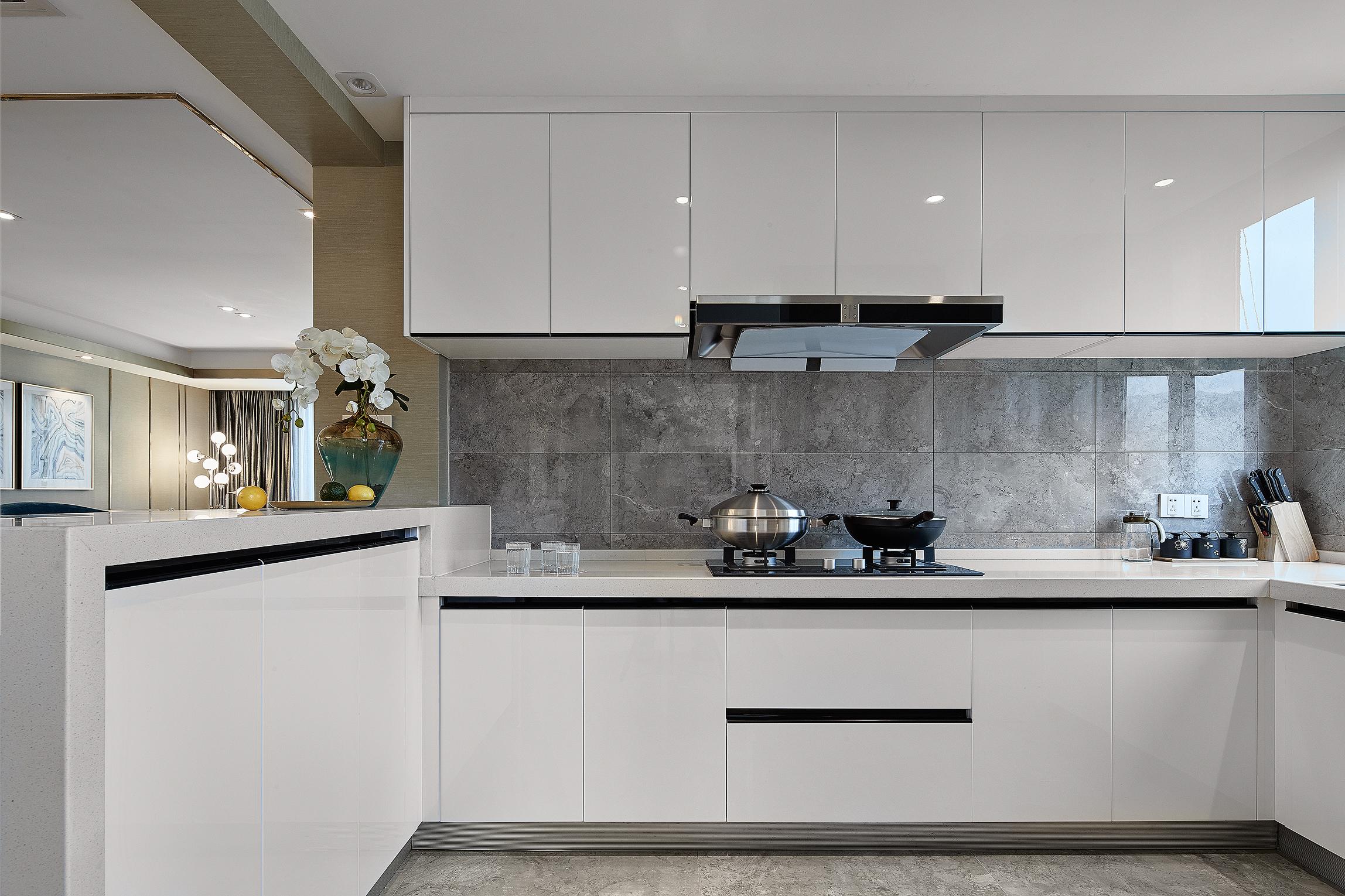 130㎡简约风格设计厨房效果图图片