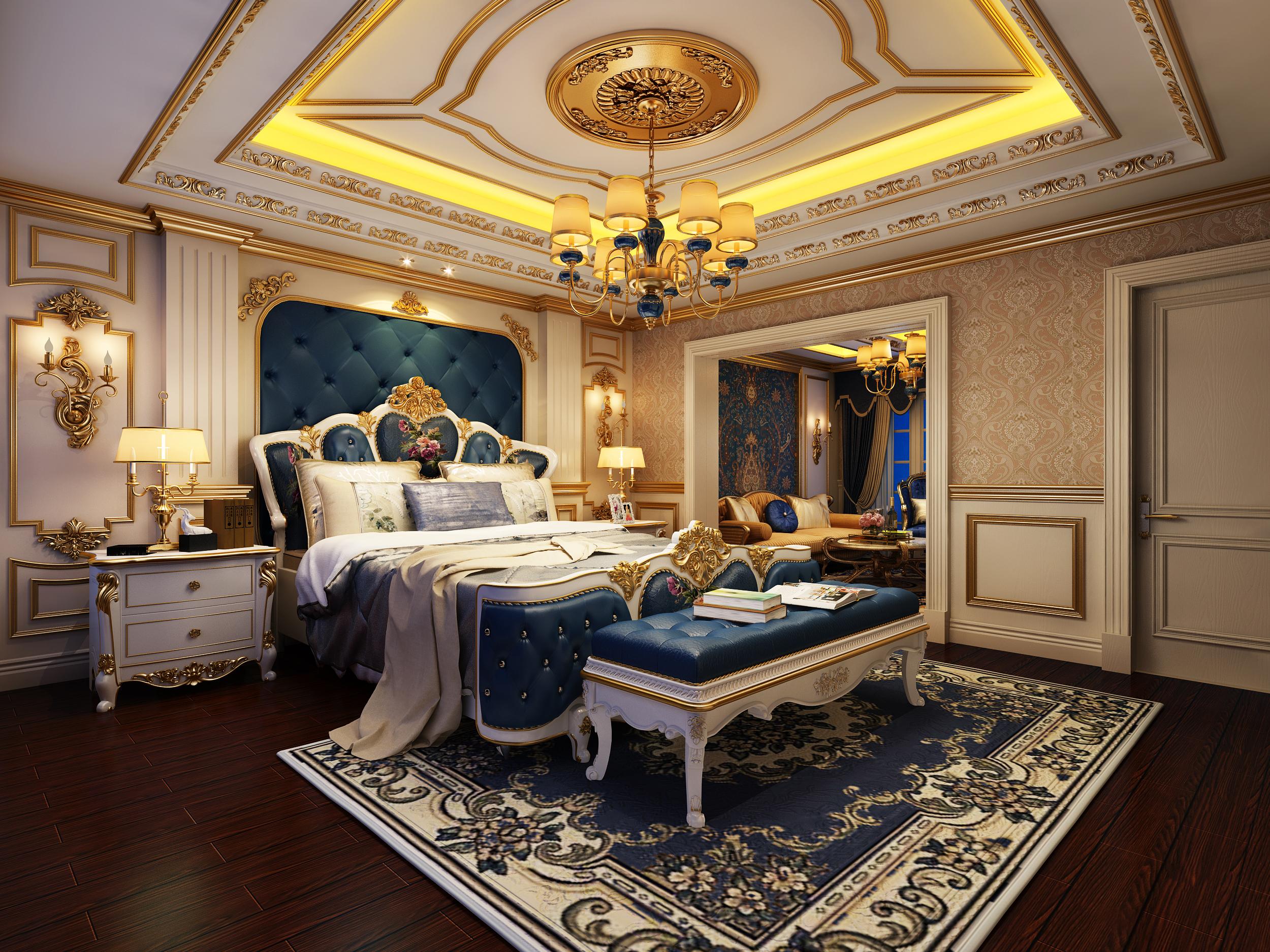 欧式风格别墅豪华型140平米以上卧室效果图