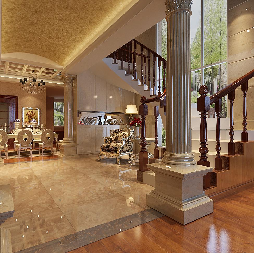 0 80平现代欧式装修效果图 20万以上装修欧式风格二居室装修80平米