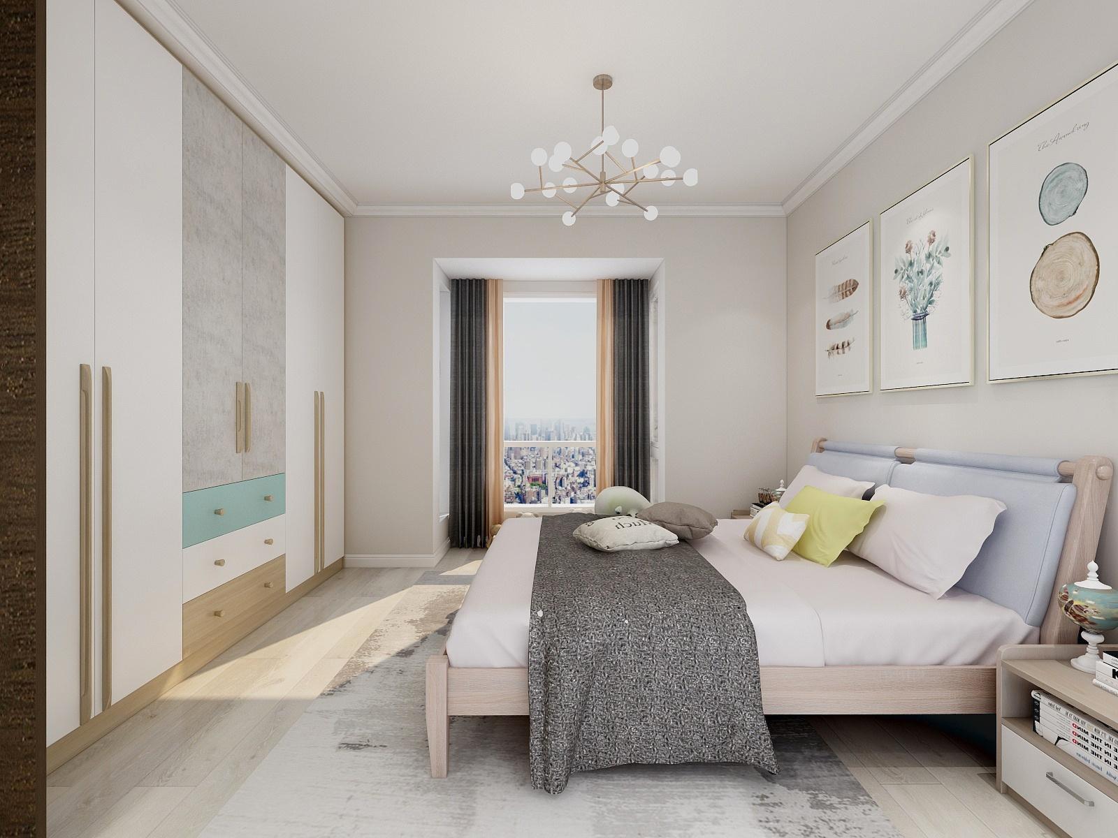 复式极简现代风卧室装修效果图_齐家网装修效果图