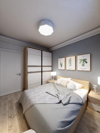 现代北欧二居卧室装修效果图