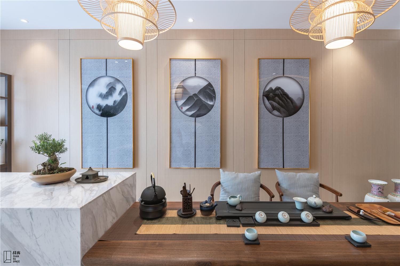现代混搭别墅茶室装修效果图