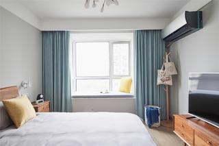 96㎡北欧风格装修卧室飘窗设计_齐家网装修效果图