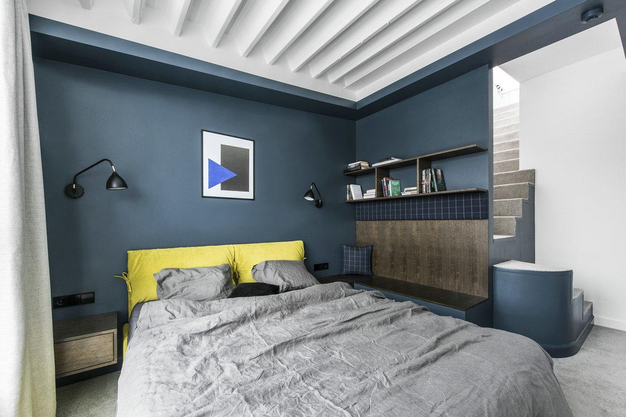 复式简约北欧风卧室装修效果图_齐家网装修效果图