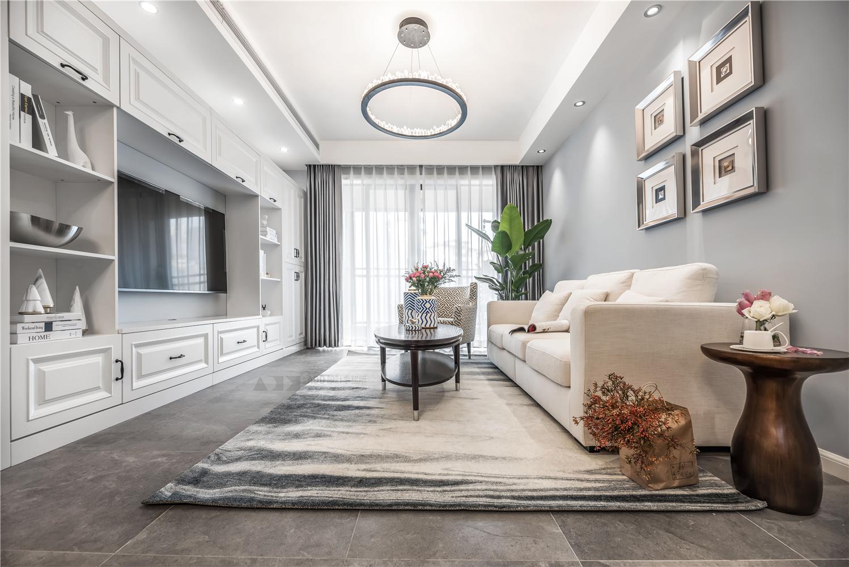 现代美式风格客厅装修设计效果图