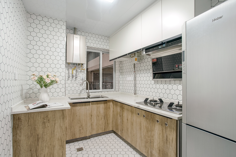 简约北欧三居厨房装修设计图_齐家网装修效果图