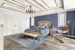 美式别墅禁忌院子卧室盖房效果图有风格里何别墅乡村在装修图片