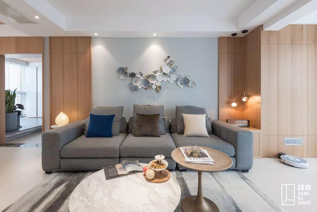 125平现代简约风沙发背景墙装修效果图