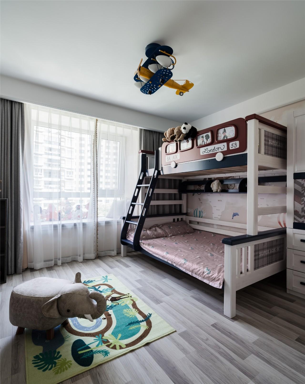 106平简约美式装修儿童房效果图_齐家网装修效果图