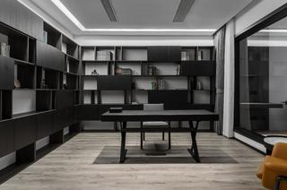 大户型现代简约书房装修效果图