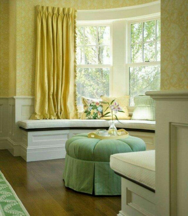 休闲,储物的空间                            圆弧形飘窗 聊天,喝茶