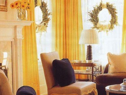 窗帘 暖色调