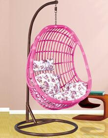 粉色 吊椅