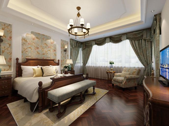美式别墅装修设计效果图