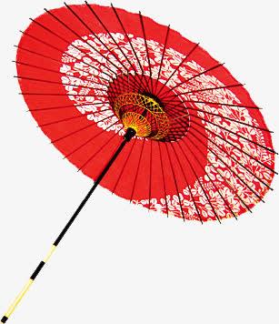 红色 花伞