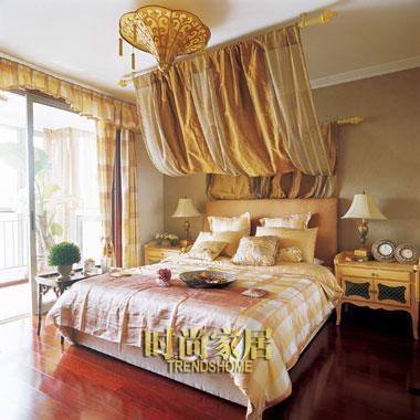 床幔 金色