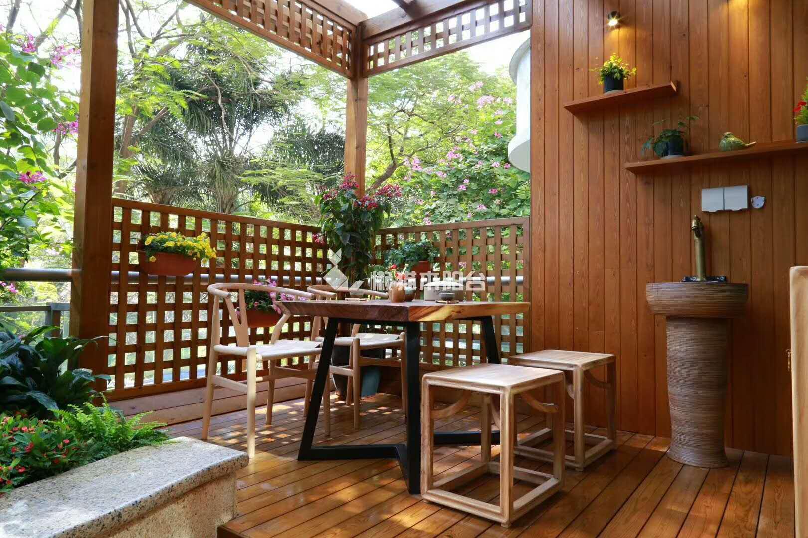 阳台 茶室