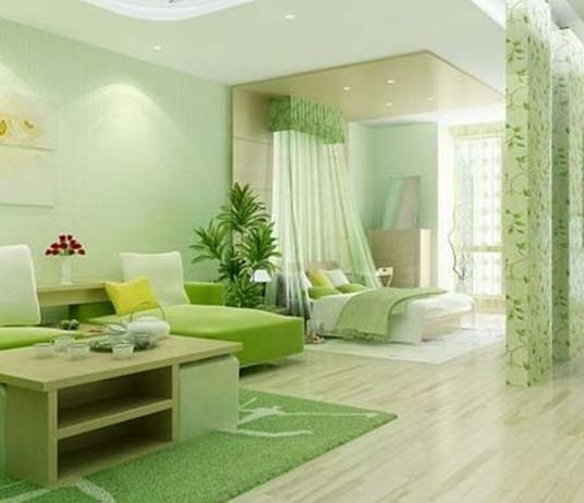 窗帘 绿色 装修