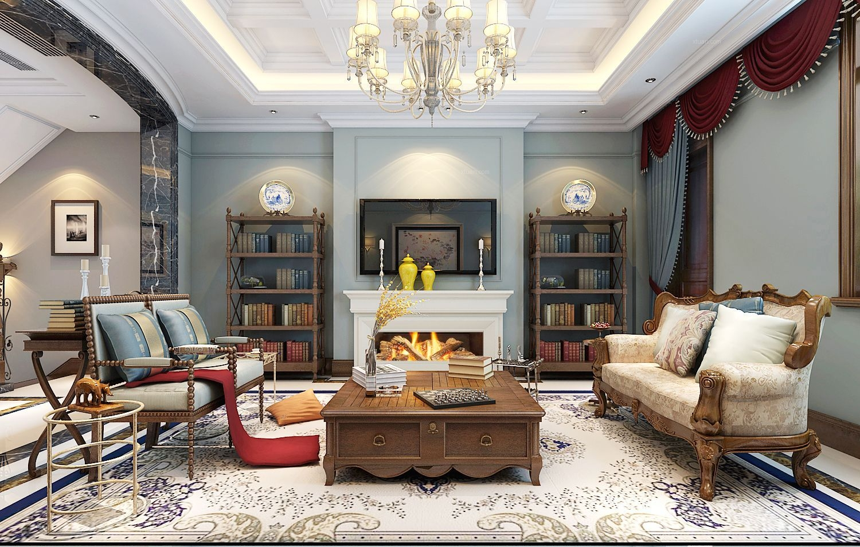 美式 客厅