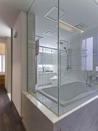 130㎡简约风格家卫生间设计