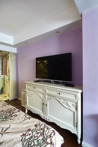 130平美式三居装修电视柜图片