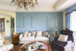 法式乡村风格家沙发背景墙图片