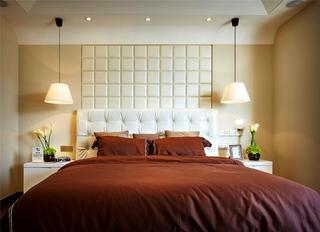 现代样板房设计卧室背景墙图片