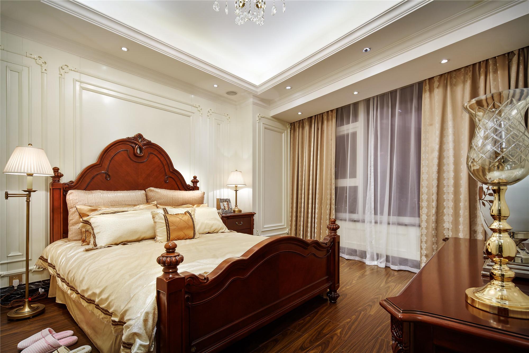 欧式样板房装修卧室效果图