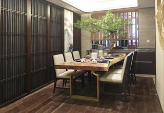 130平中式装修餐厅布置图