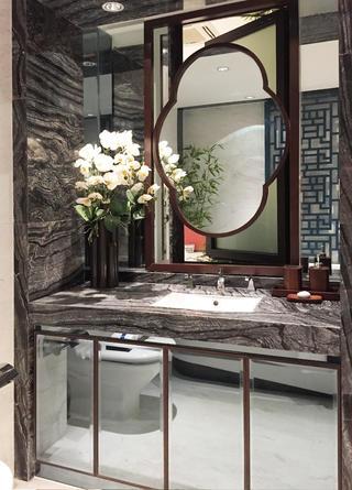 130平中式装修洗手台图片