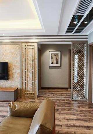 145平新中式三居装修过道图片