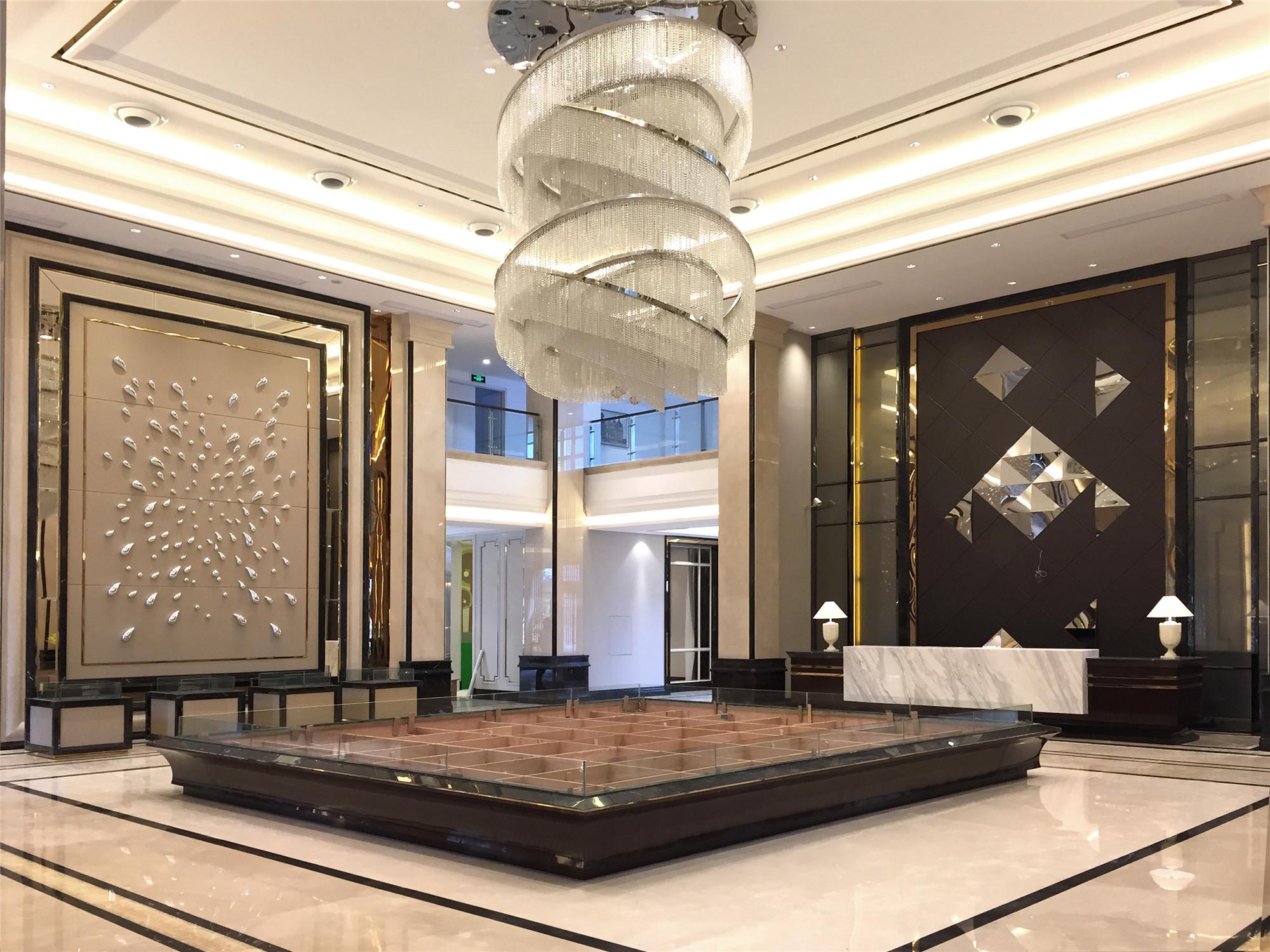 现代时尚售楼处装修大厅效果图