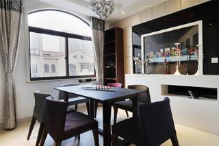 现代中式风格装修餐厅搭配图