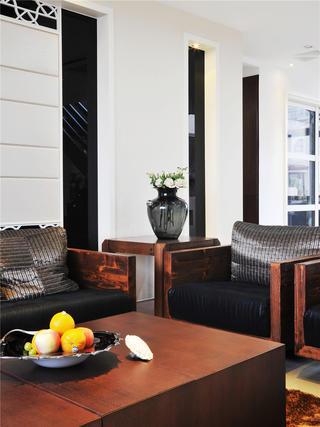 现代中式风格装修沙发一隅