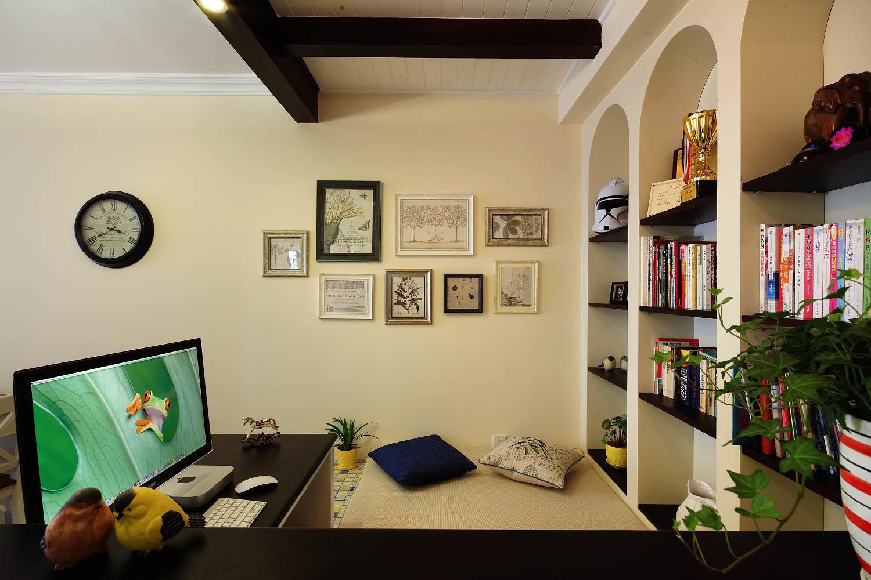美式两居装修书架设计