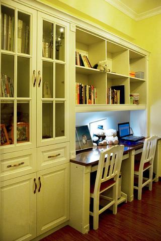 100平地中海混搭装修书柜设计
