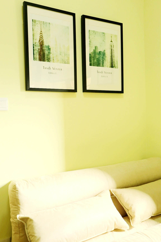 现代简约二居装饰画欣赏