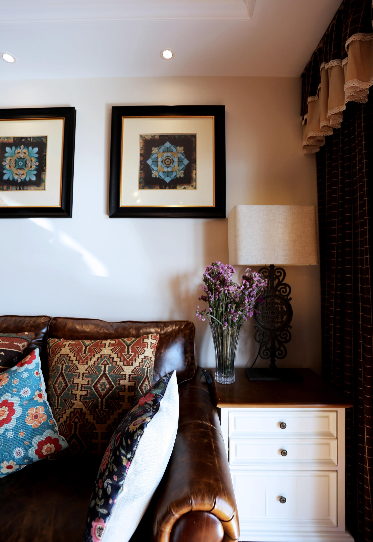 120平美式乡村风格家客厅细节图
