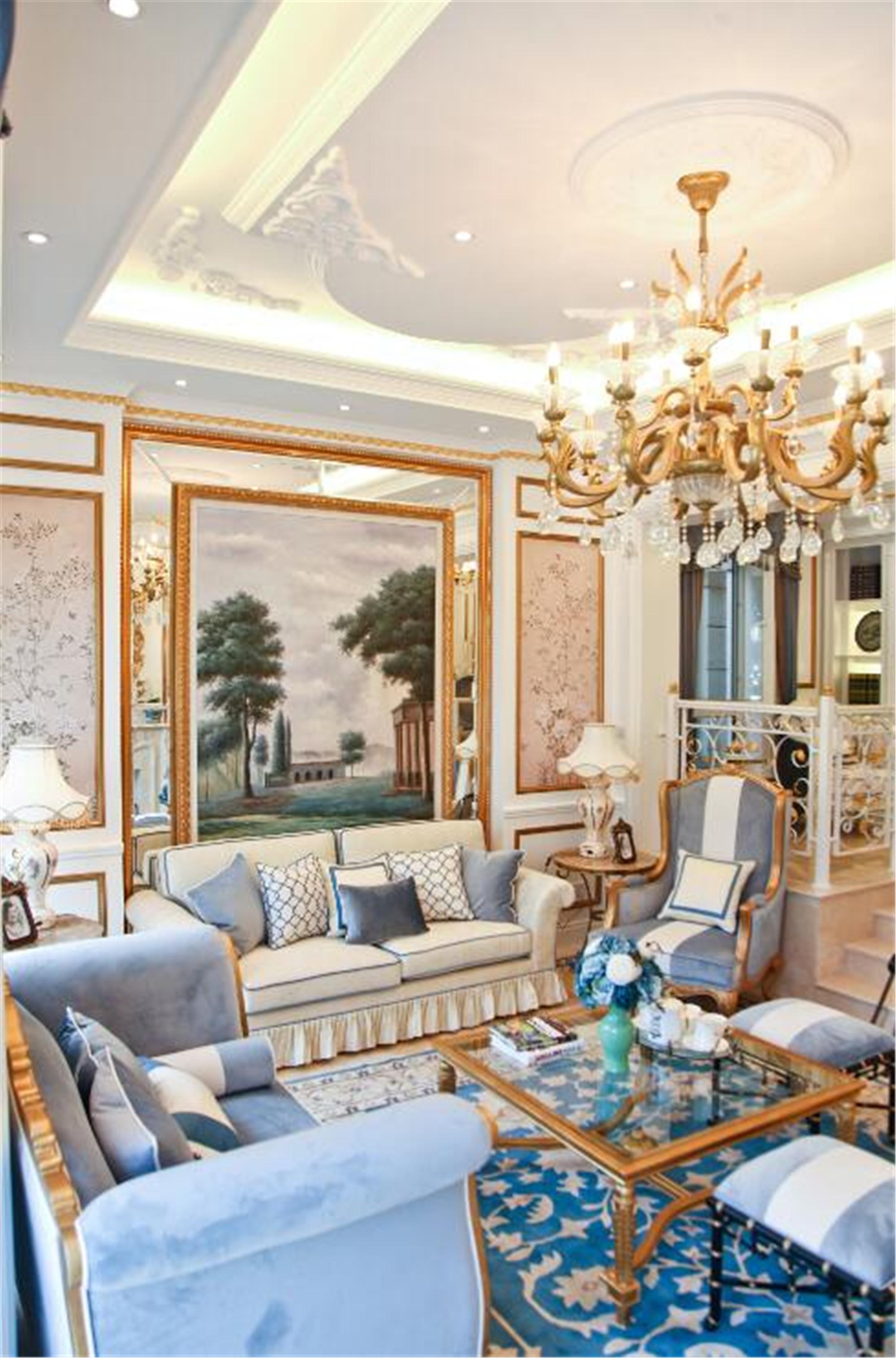 法式风格别墅装修客厅设计图
